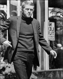 Classic men's style: Steve McQueen pulls off the turtleneck