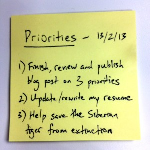 Get Your Priorities Straight: just the top 3