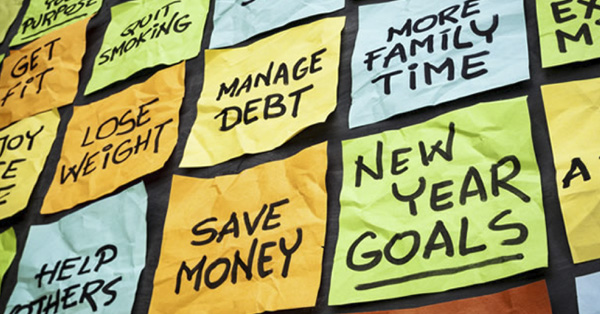 Post it notes with goals