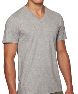 Minimalist men's style: Grey V-Neck