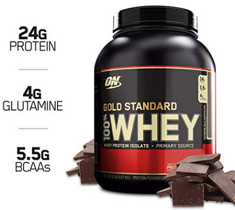 Gold Standard whey protein by Optimum Nutrition